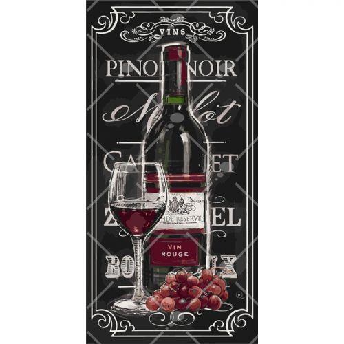 "Картина по номерам ""Гордость виноградаря"" (вино, натюрморт, виноград)"