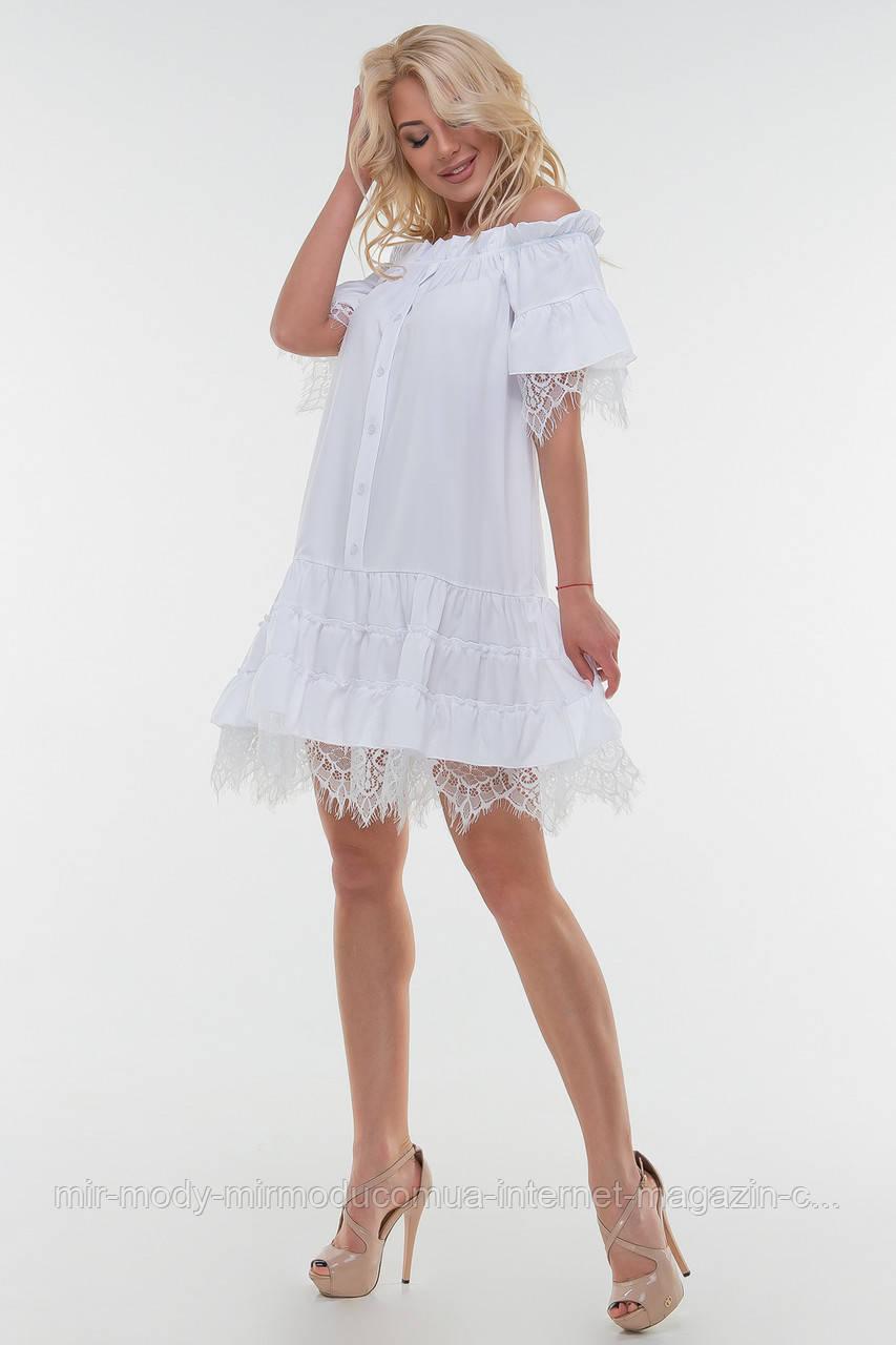 Летнее платье  белого цвета штапель(2 цвета)  размер 42-46  (влн)