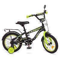 Велосипед детский 14 дюймовый Profi T14152 Space, черный (мат), звонок, доп.колеса