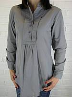 Рубашка женская D 8014 серая
