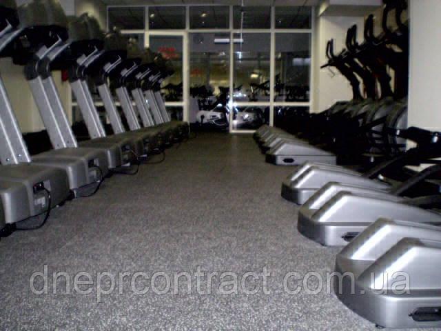 Резиновые спортивные покрытия 8113 для тренажёрных залов