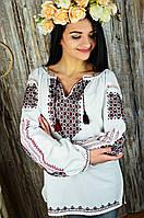 Этническая женская вышиванка ручной работы с богатой вышивкой «Газдиня», фото 1