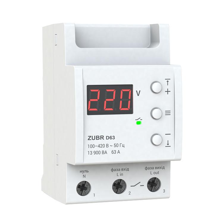 Реле защиты от перенапряжения ZUBR D63A