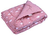"""Одеяло  зимнее Руно™ 105х140см Силикон  """"Хмарка рожевий"""", фото 1"""