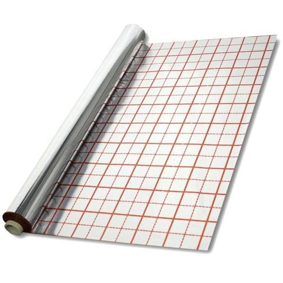 Тепловідбивна підкладка ITAL-therm 50 (мк, µ) 50 М з розміткою фольгована для теплої підлоги