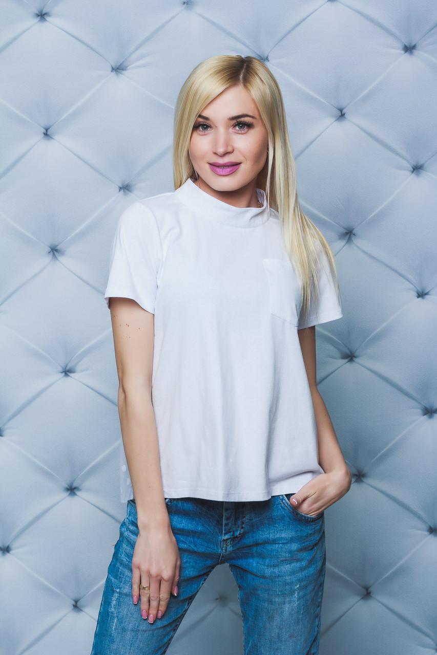Блуза женская с коротким рукавом белая