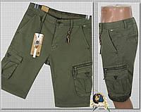 Шорты мужские карго с карманами Iteno хаки светлый