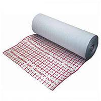 Рулонная теплоизоляция Теплоизол 3 мм (50 м) фольгированная с разметкой с утеплителем для теплого пола