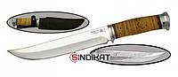 Нож с фиксированным клинком РосОружие Атаман,сталь 95х18, ручная работа (РР 216-АБР)