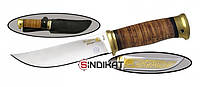 Нож с фиксированным клинком РосОружие Монблан-2, сталь ЭИ-107 ТЦ / 95Х18, ручная работа (РР 256-ПБ)
