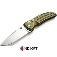 Нож туристический тактический складной Hogue EX-01 Tactical Folding Knife Tanto Point Aluminum, цвет: зеленый (34141)