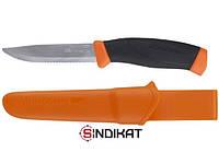 Нож с фиксированным клинком MORA Companion F Rescue, нержавеющая сталь, серрейтор (11828)