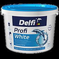 """Delfi Краска латексная акриловая для стен и потолков """"Profi White"""" Белый 14 кг"""