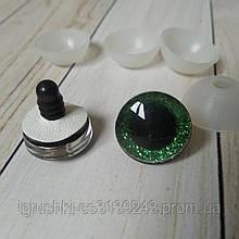Глазки для игрушек 20 мм зеленые