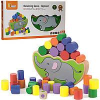 Детская увлекательная игра Viga Toys Балансирующий слон (50390)