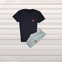 Мужской летний спортивный комплект в Стиле Adidas 6 шорты + футболка