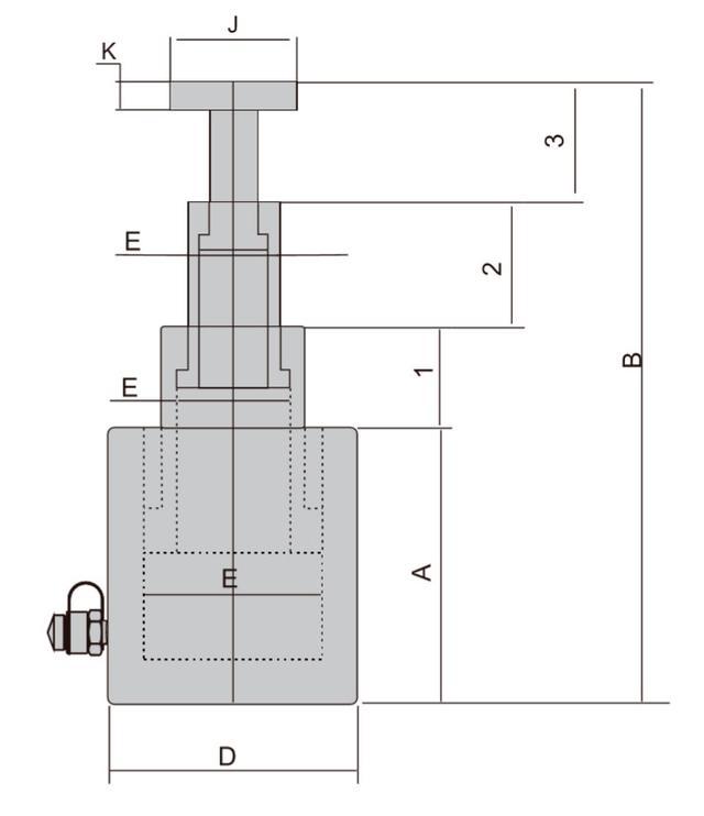 Размеры гидроцилиндров