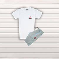 Мужской летний спортивный комплект в Стиле Adidas 7 шорты + футболка