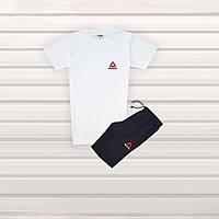 Мужской летний спортивный комплект в Стиле Adidas 8 шорты + футболка