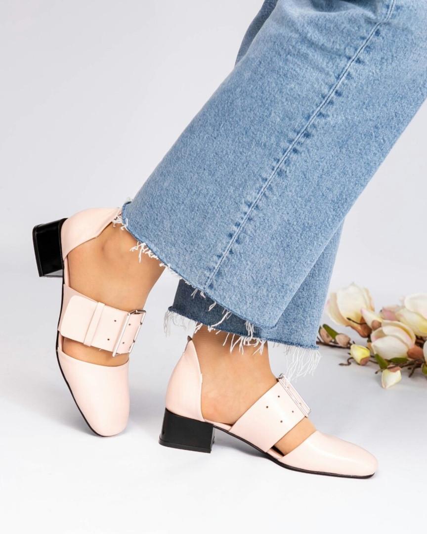 Туфли женские с открытые цвета пудры