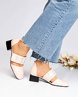 Туфли женские с открытые цвета пудры, фото 1