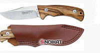 Нож с фиксированым клинком Fox FKMD Black Fox Clip Point Satin Finish Zebra Wood Handle (BF-133ZW)
