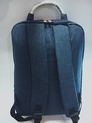 Стильный городской рюкзак на три отдела, спортивный рюкзак, портфель, ранец, вместительный рюкзак, фото 2