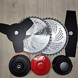 Бензокоса Урал УБТ-6700 4 ножа 3 бабины, бензокоса, фото 8