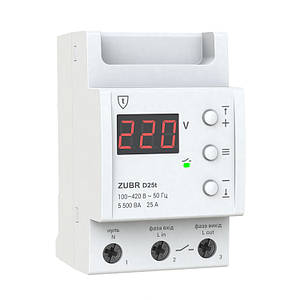 Реле защиты от перенапряжения ZUBR D25A T (с термозащитой)