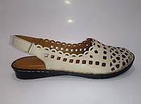 Женские кожаные босоножки на резинках ТМ Liza Dora, фото 1