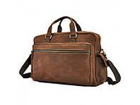 042a71974f9f Вместительная стильная кэжуал мужская кожаная винтажная сумка коричневая