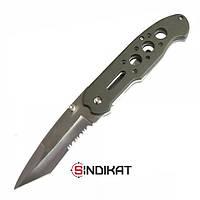 Нож туристический складной полусеррейтор MIL-TEC One-hand Tantoo Knife OD (15307001)