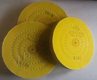 Тканевий круг полірувальний 175 мм жовтий