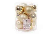 Набор елочных шаров 8см, цвет - яркое золото, 12шт: матовый, глянец по 6шт BonaDi 147-088