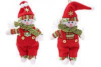 Новогодняя игрушка на подвесе Снеговик BonaDi SA0-504