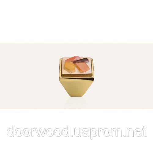 Brera Stone ручка-кнопка мебельная (золото)