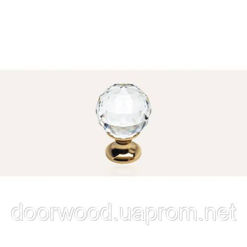 Crystal ручка-кнопка мебельная (золото)