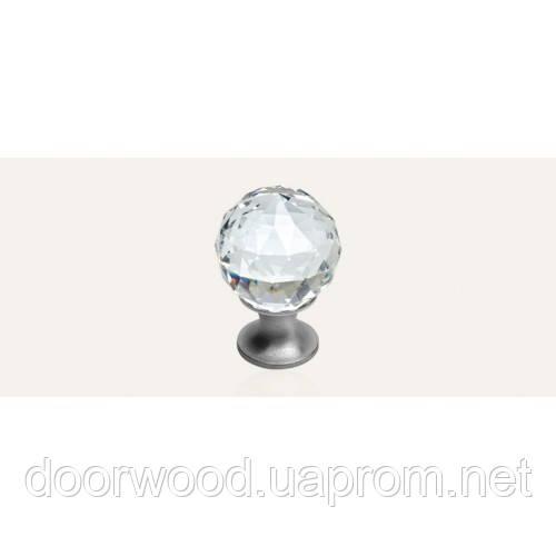 Crystal ручка-кнопка мебельная (хром матовый)