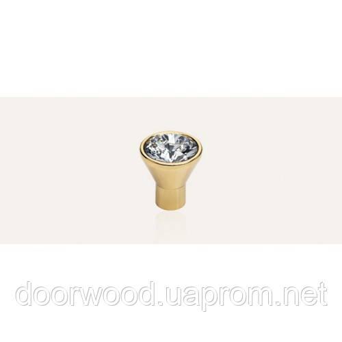 Diamante ручка-кнопка мебельная (золото)