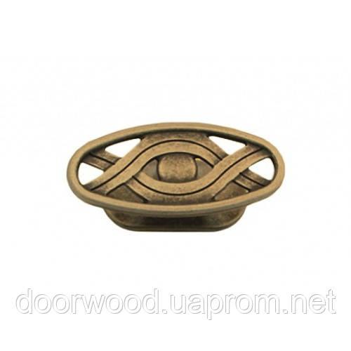 Ручка-кнопка мебельная Giusti (старая бронза)