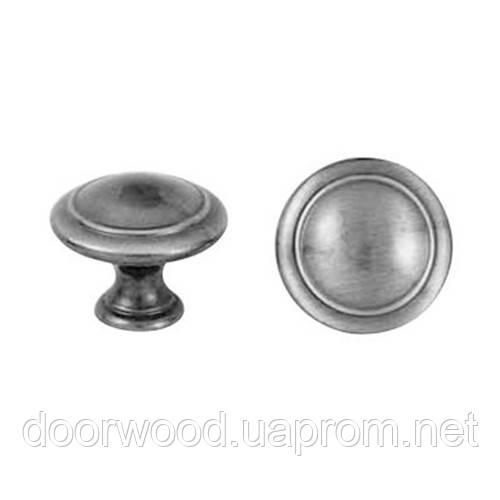 Ручка-кнопка мебельная Giusti (старое серебро)