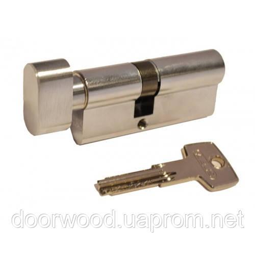 Цилиндр KD6 плоский ключ-вороток (никель матовый)