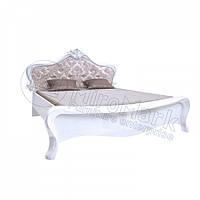 Двоспальне ліжко 160х200 мяка спинка без каркаса у спальню Прованс Білий Глянець Міромарк
