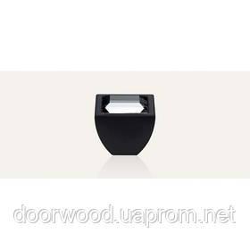 Elios Crystal ручка-кнопка мебельная (матовый черный)