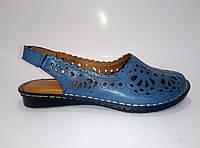 Женские кожаные босоножки на резинках ТМ Liza Dora   , фото 1