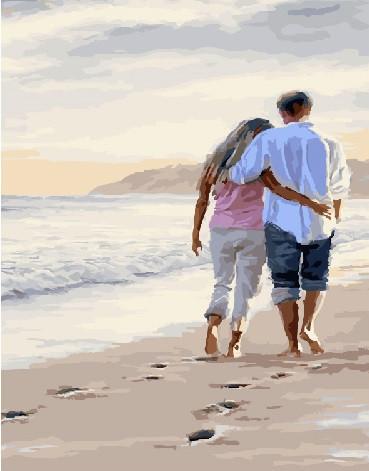Картина по номерам Brushme Вдвоем по берегу моря