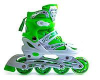Ролики Superpower Green, размер 38-42 PU. Роликовые коньки, фото 1