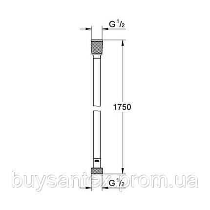 Grohe Silverflex 28364000 душевой шланг 150 см, фото 2