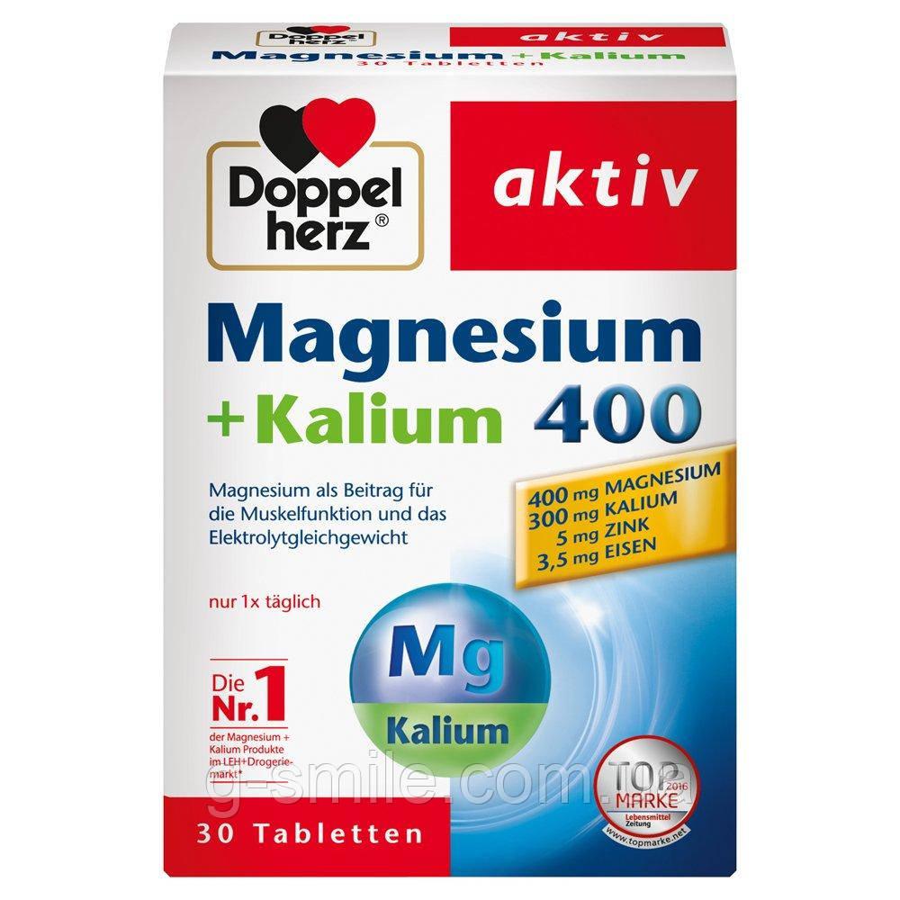 Doppelherz Magnesium + Kalium 400 для нормальной работы мышц и нормальной нервной системы - 1 х 30 таб.