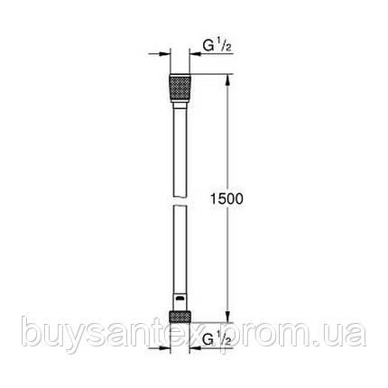 Grohe Silverflex 26346000 душевой шланг усиленный 150 см, фото 2